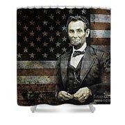 President Lincoln  Shower Curtain