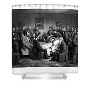 President Lincoln's Deathbed Shower Curtain