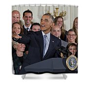 President Obama Honors Us Womens Soccer Team At White House #2 Shower Curtain