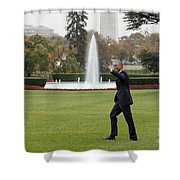 President Obama - White House South Lawn #1 Shower Curtain