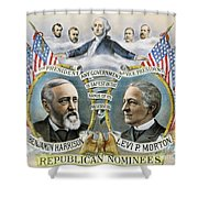 Presidential Campaign, 1888 Shower Curtain