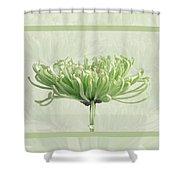 Pretty In Green Shower Curtain