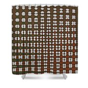 Prickly Poppy Abstract Shower Curtain