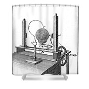 Priestleys Electrostatic Machine, 1775 Shower Curtain