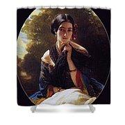 Princess Leonilla Of Sayn-wittgenstein Franz Xavier Winterhalter Shower Curtain