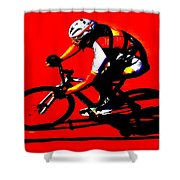 Pro Cycling Shower Curtain
