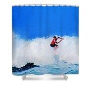 Pro Surfer Alex Ribeiro Shower Curtain