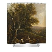 Probably A German Painter Shower Curtain