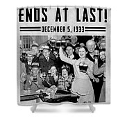 Prohibition Ends Celebrate Shower Curtain
