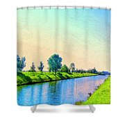 Provence Canal Shower Curtain