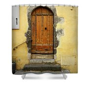 Provence Door Number 6 Shower Curtain