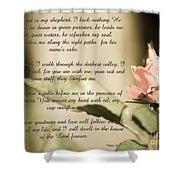 Psalm 23 Shower Curtain