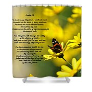 Psalm 23 Shower Curtain