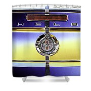 Psychedelic Shelby Ford Mustang Trunk Lid And Badge 4 Shower Curtain