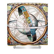 Ptolemaic Universe, 1660 Shower Curtain