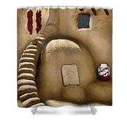 Pueblo Oven Shower Curtain