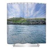 Puffin Island Shower Curtain