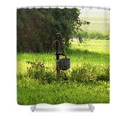 Pump And Bucket Shower Curtain