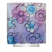 Purple Explosion Shower Curtain