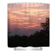 Purple Summer Evening Shower Curtain