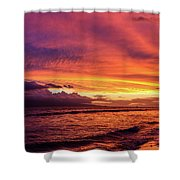 Purple Sunset Shower Curtain