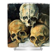 Pyramid Of Skulls Shower Curtain