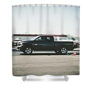 Quarter Mile  Shower Curtain