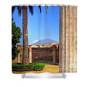 Quiet Vesuvius Shower Curtain