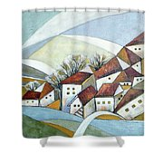 Quiet Village Shower Curtain