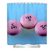 Rabeprazole, 10mg Pill Shower Curtain