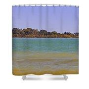 Racine Lakefront Shower Curtain