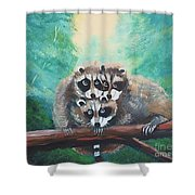 Racoons Shower Curtain