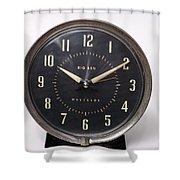 Radium Dial On Clock Shower Curtain