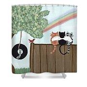 Rainbow Bridge Cats Shower Curtain