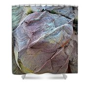 Rainbow Colored Sandstone In Valley Of Fire Shower Curtain