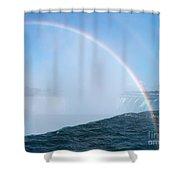 Rainbow Over Niagara Falls Horseshoe Waterfall Shower Curtain