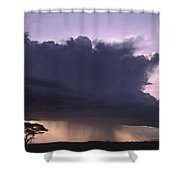 Rainstorm At Amboseli Shower Curtain