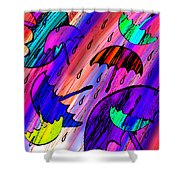 Rainy Day Love Shower Curtain