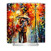 Rainy Kiss Shower Curtain