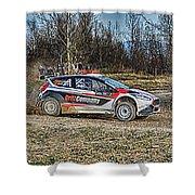 Rally Car Shower Curtain