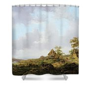 Ramblers On A Path Shower Curtain