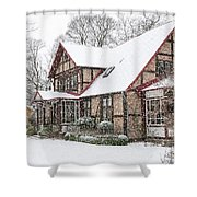Ramlosa Brunnspark House In Winter Shower Curtain