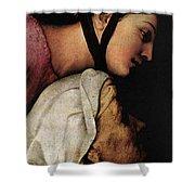 Raphael Madonna Dell Impannata  Shower Curtain