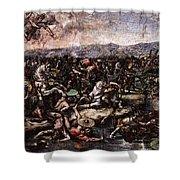 Raphael The Battle At Pons Milvius  Shower Curtain