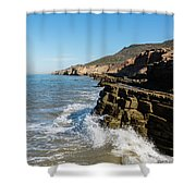 Point Loma Tide Pools Area Shower Curtain