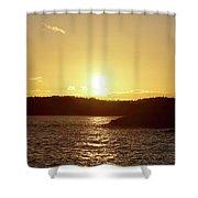 Raumanmeri Sunset Shower Curtain