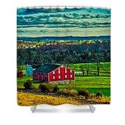 Red Barn - Pennsylvania Shower Curtain