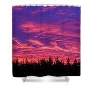 Red Clouds At Dawn Shower Curtain