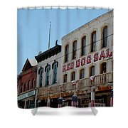 Red Dog Saloon Shower Curtain