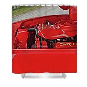 Red Engine Shower Curtain